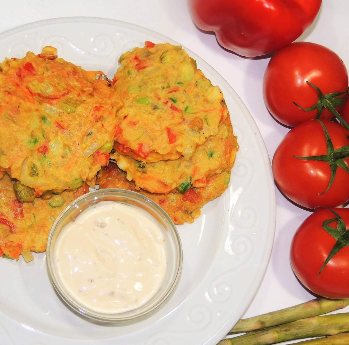 Vegetable Fritters made with Beans Flour: Recipe & Preparation