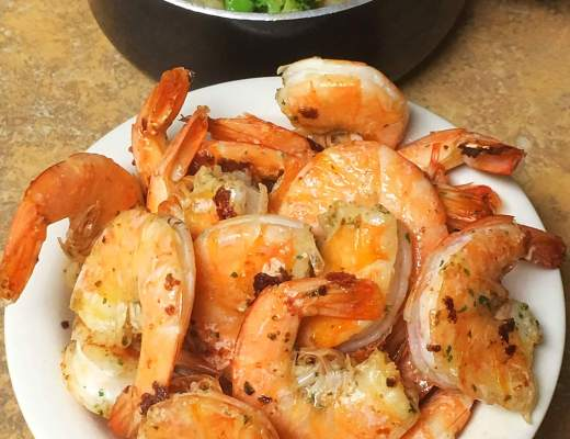 Spicy Pan Grilled Shrimp