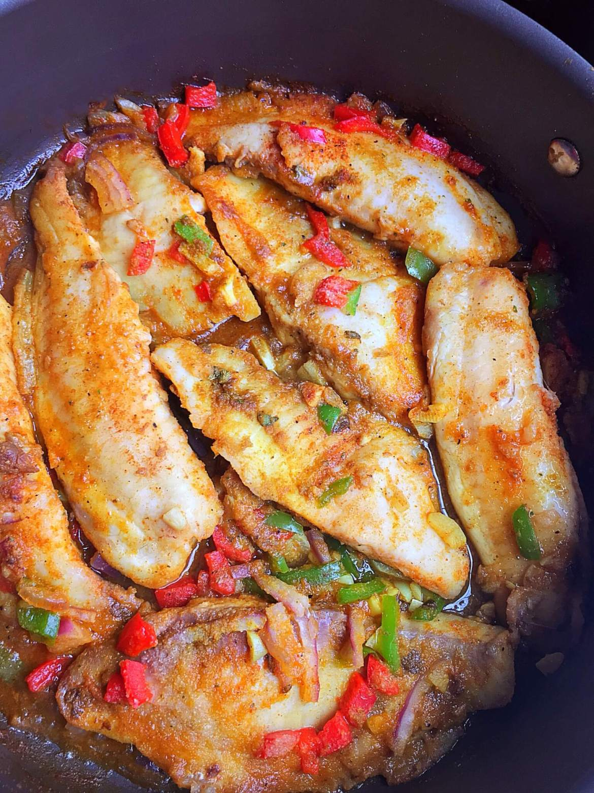 sauteed tilapia with bell peppers