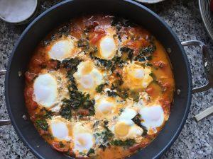 Tomatoes + Eggs = Shakshuka