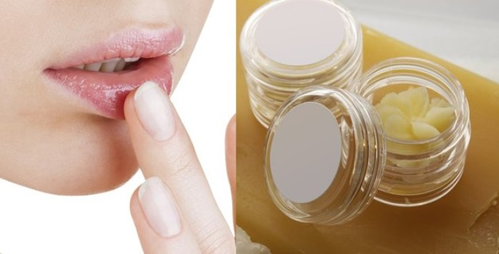 Cocoa butter for chapped lips