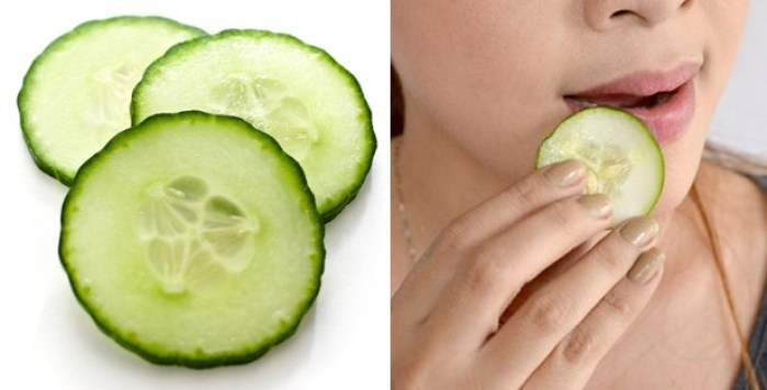 Cucumber for Chapped Lips