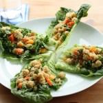 Confetti Quinoa and Chickpea Lettuce Wraps