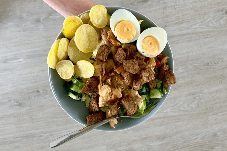 Ceasar salade met vegetarische kip