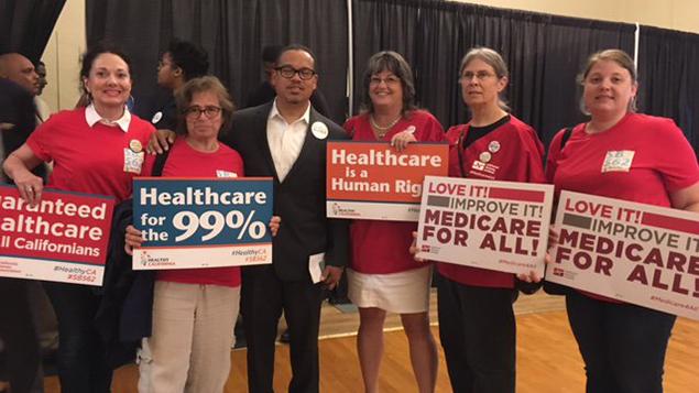 California nurses single-payer