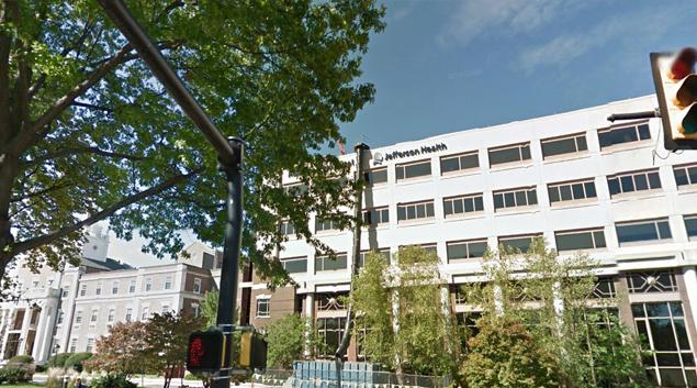 Abington Hospital, Jefferson Health in Abington, Pennsylvania (Google Earth)