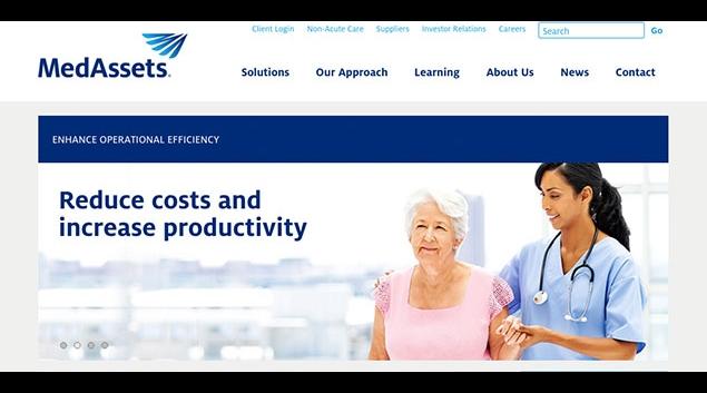 """Screenshot via <a href=""""http://www.medassets.com"""">Medassets.com</a>."""