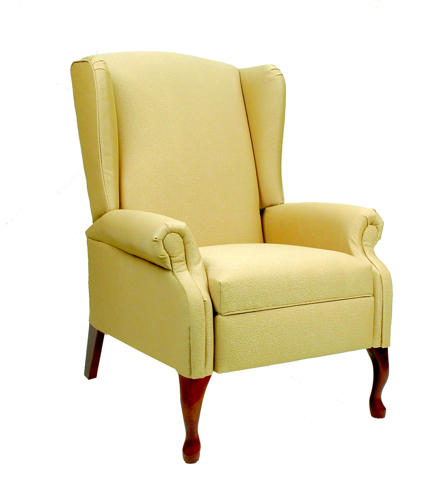 queen anne wing chair recliner office covers online india health care furniture inc