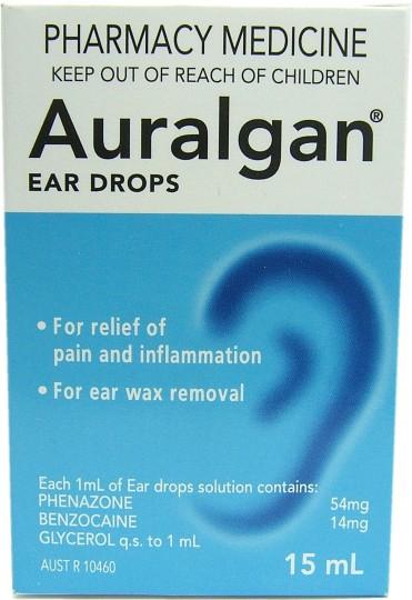 Buy Auralgan Ear Drops 15ml at Health Chemist Online Pharmacy