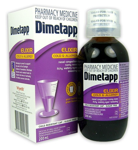 Buy Dimetapp Cold & Allergy Elixir 200ml at Health Chemist Online ...