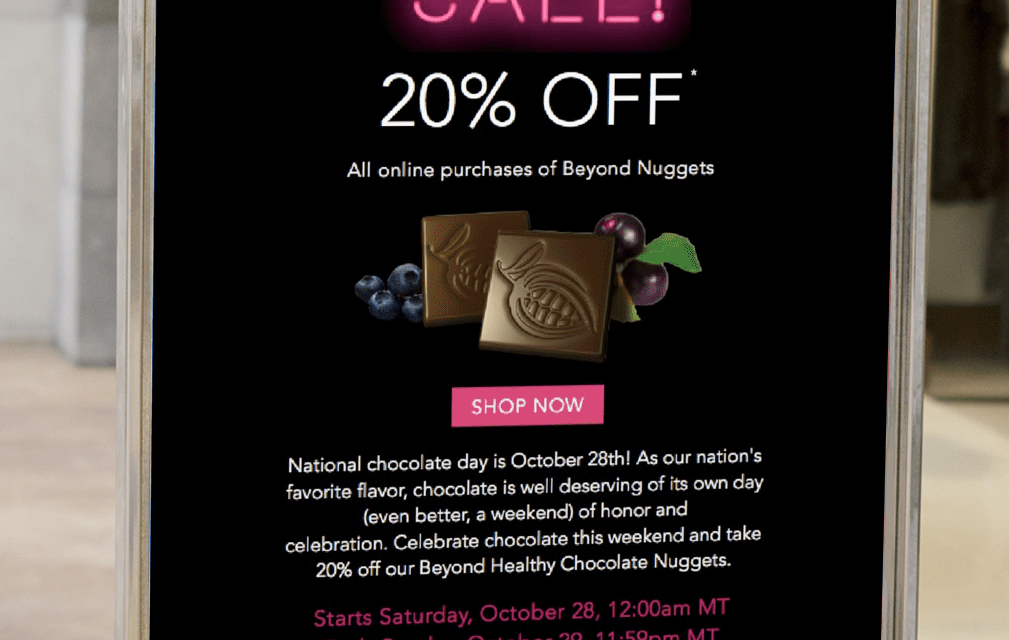 Celebrate National Chocolate Day with 20% off Beyond Healthy Chocolate Nuggets!