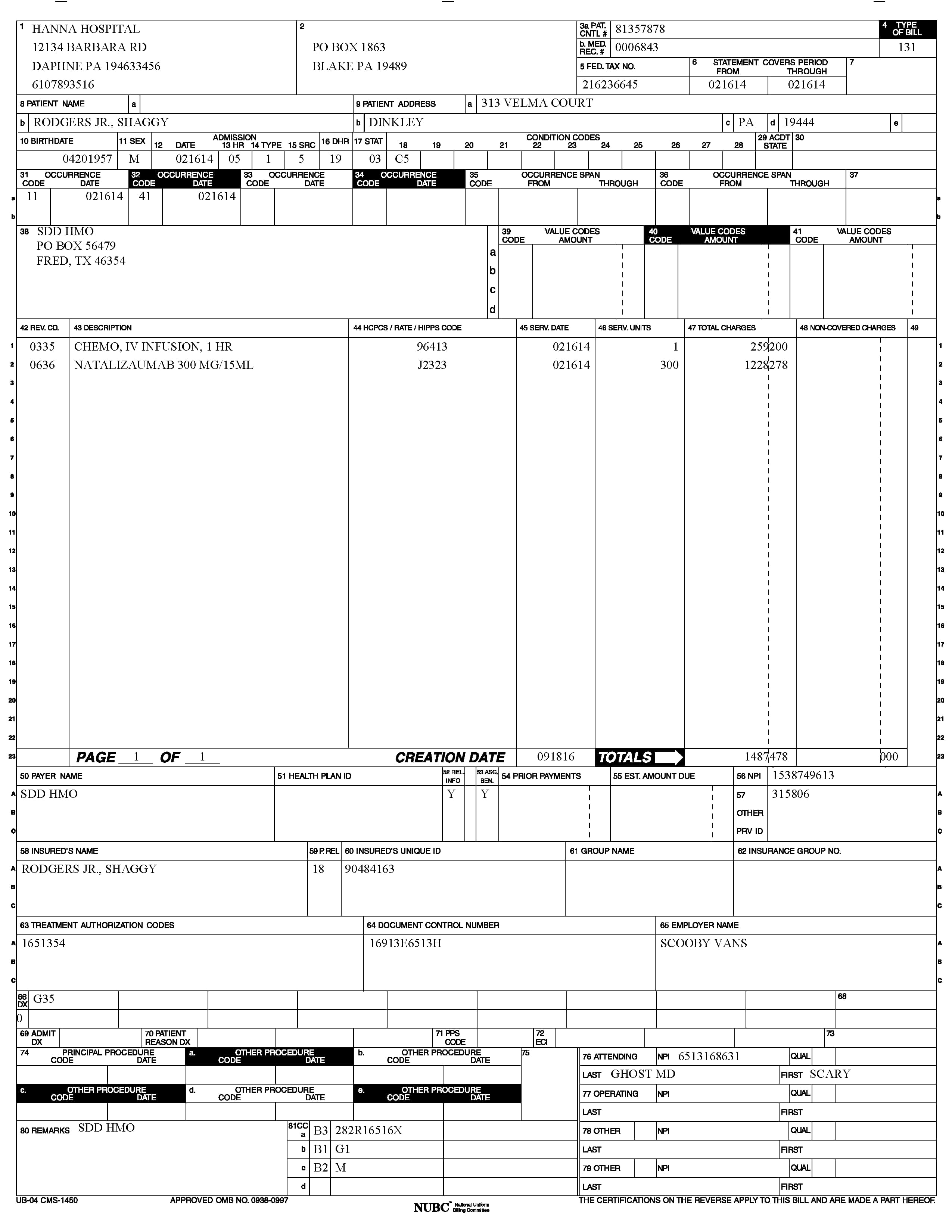Processing Ub 04 Forms