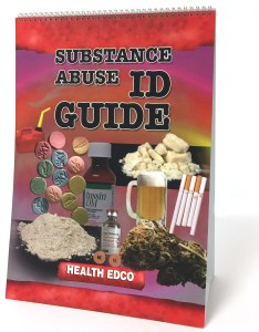 Substance abuse identification guide panel spiral bound flip chart cover collage of abused drugs also drug  id health edco rh healthedco