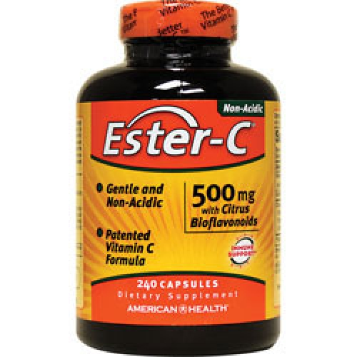 American Health 酯化維他命C Ester-C -- 500 mg* 240顆 -- 含鈣 柑橘生物類黃酮