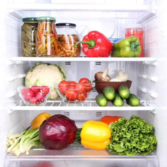 Refrigerator full of food