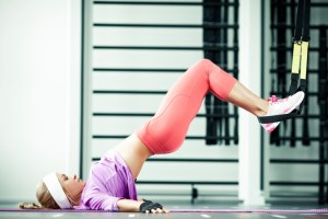 *This is the more advanced version of a bridge- beginners should keep feet flat on floor