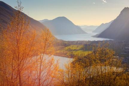 Lake Lugano and Lake Piano