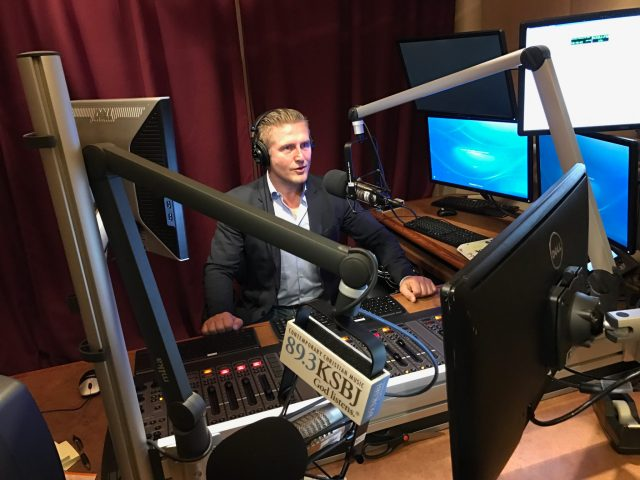 Samir Becic live on air on KSBJ!