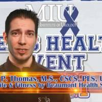 Men's Health Event 2011 - Jason Thomas Lecture: Improve Cardiovascular Fitness