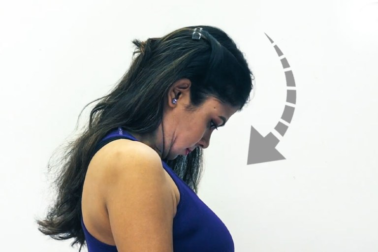 Chin touch - Exercise For Rid Double Chin