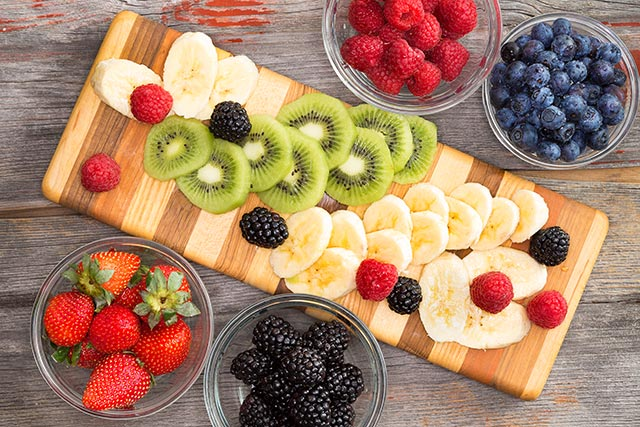 Certain fruits like berries contain high amounts of antioxidants.