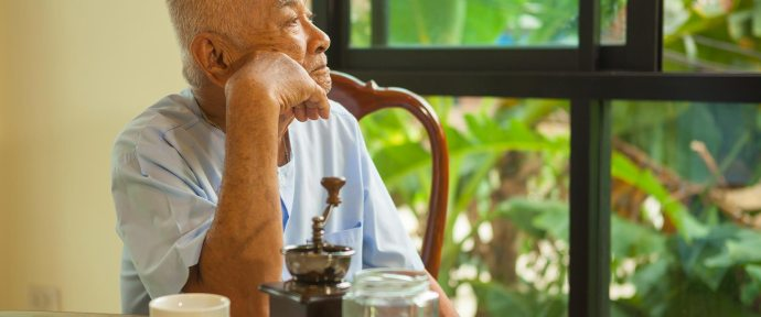 Symptoms of dementia are a result of impairment in thinking skills