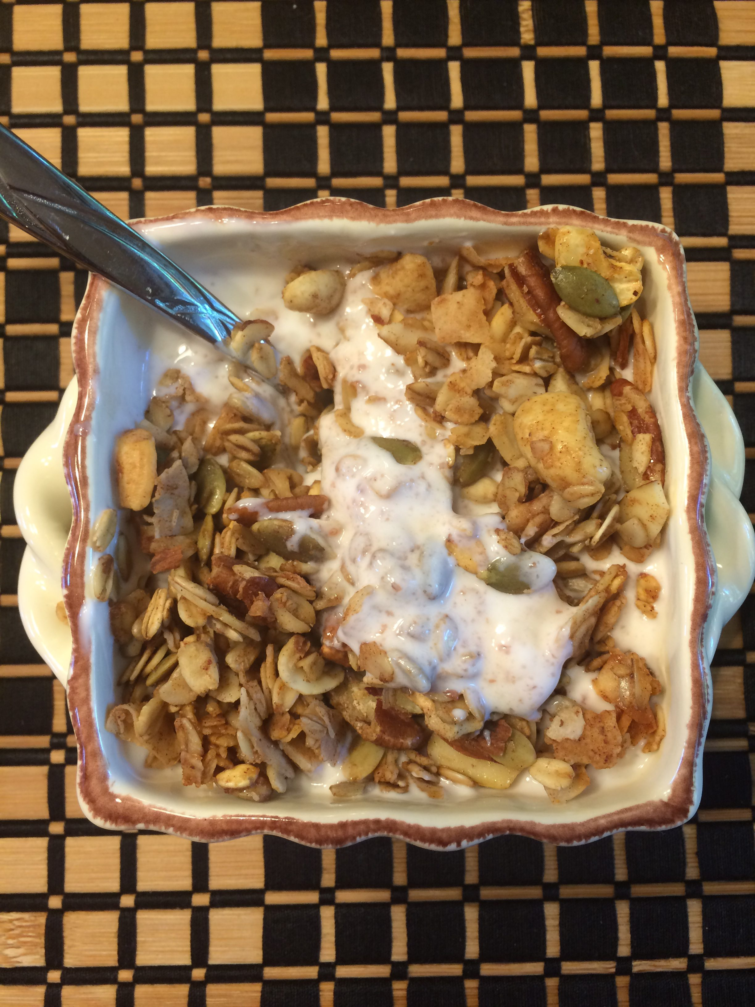 Homemade granola 100 days of real food healthier holland part of that includes cooking more which i absolutely love i often mention one of our favorite granola recipes on the blog forumfinder Images