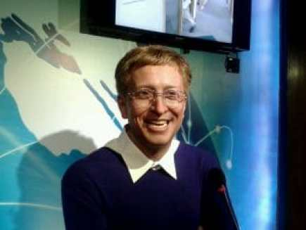 Bill Gates waxwork. Copyright: <a href='http://www.123rf.com/profile_annljy'>annljy / 123RF Stock Photo</a>