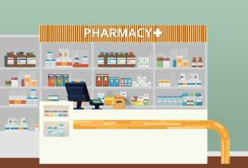 Market stockists, 64323511 - medical pharmacy or drugstore interior design. chemist or apothecary, dispensary and clinical, ambulatory or community shop for pills or tablets, lozenge in flasks. medicine and healthcare theme 64323511 - medical pharmacy or drugstore interior design. chemist or apothecary, dispensary and clinical, ambulatory or community shop for pills or tablets, lozenge in flasks. medicine and healthcare theme