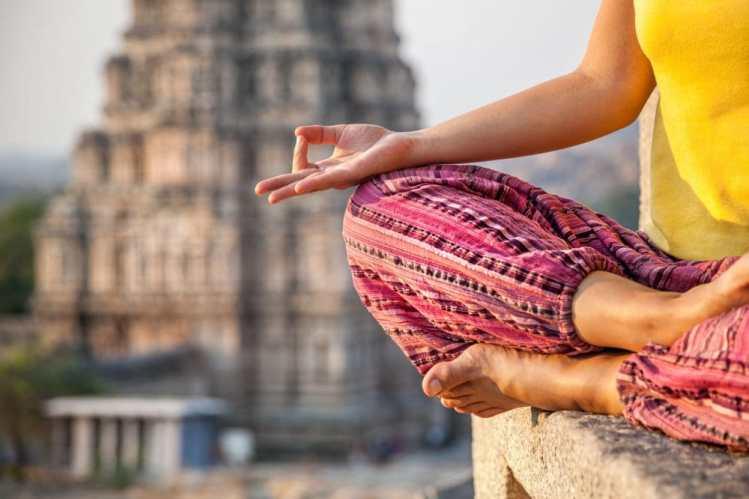 Practice of yoga. Copyright: byheaven / 123RF Stock Photo