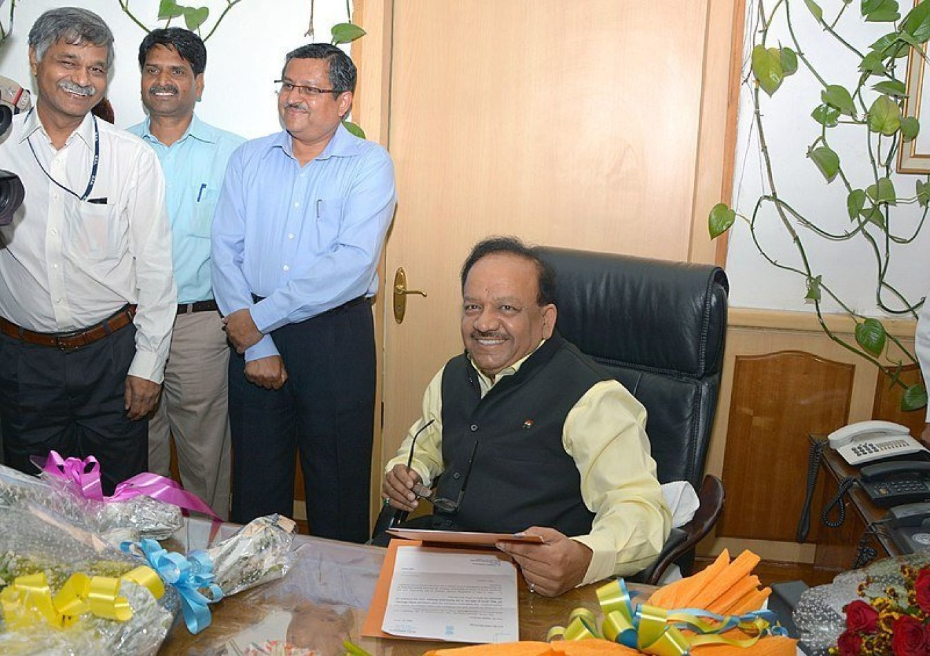 """<em><strong>Union Health Minister Dr Vardhan, who has told Lok Sabha MPs that more than ten crore families are covered under Ayushman Bharat. Image credit: Ministry of Health and Family Welfare (GODL-India) [GODL-India (https://data.gov.in/sites/default/files/Gazette_Notification_OGDL.pdf)] This file or its source was published by Press Information Bureau on behalf of Ministry of Health and Family Welfare, Government of India under the ID <a class=""""external text ext-link"""" href=""""http://pib.nic.in/newsite/photo.aspx?photoid=54064"""" rel=""""nofollow external nofollow"""">54064</a>and CNR 56840.<small>(<a class=""""external text ext-image"""" href=""""http://pibphoto.nic.in/photo//2014/May/l2014052754064.jpg"""" rel=""""nofollow external nofollow"""">directlink</a>)</small></strong></em>"""