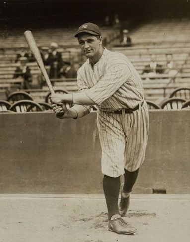 American baseball player Lou Gehrig when he was introduced as new player of the New York Yankees.