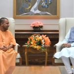 The Chief Minister of Uttar Pradesh, Yogi Adityanath calling on the Prime Minister, Shri Narendra Modi, in New Delhi on April 09, 2017.