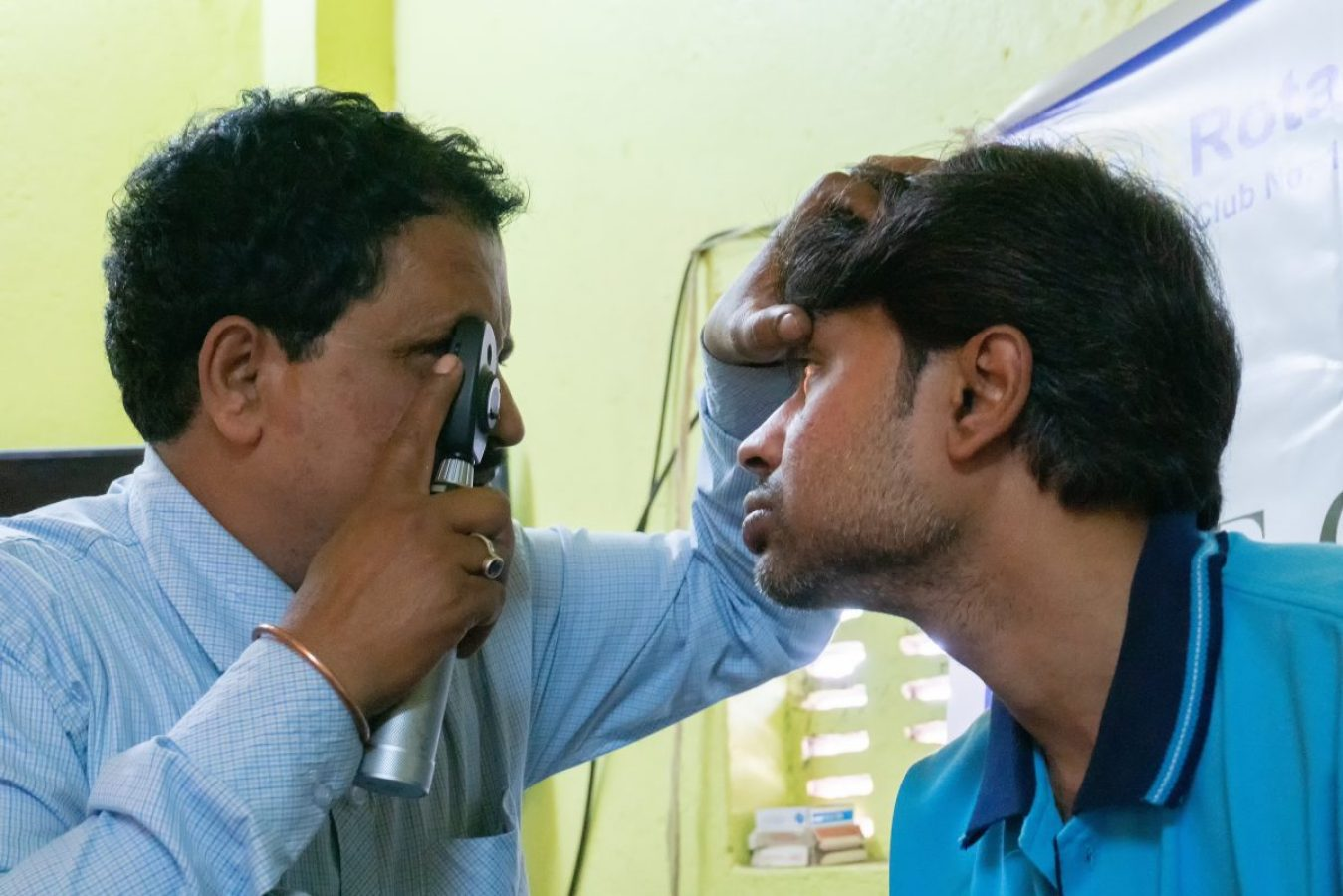 Image credit: Rudra Narayan Mitra / 123rf. Concept: eye exam to tackle vision loss and visual impairment