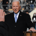 English: Joseph R. Biden Jr., 46th President of the United States, takes the oath of office as President on the West Front of the U.S. Capitol Building on January 20, 2021, at 11:49 a.m.
