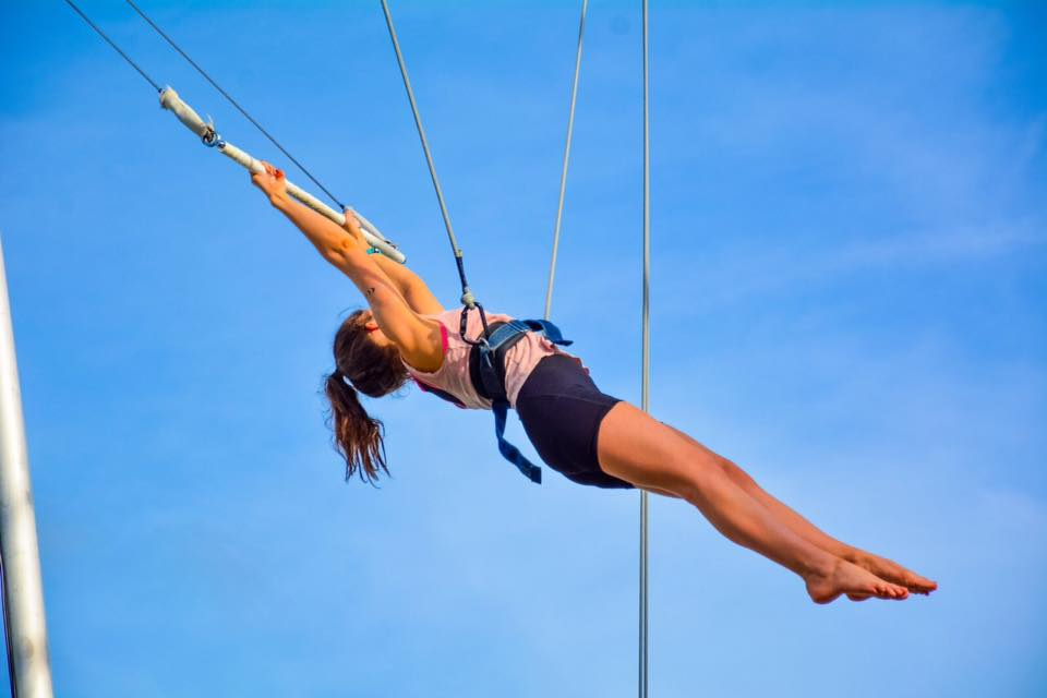 flying trapeze beach resort punta cana club med