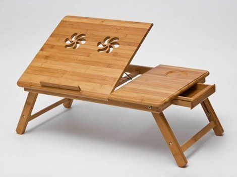 Premium Wooden Foldable Multipurpose Bed Table For Eating