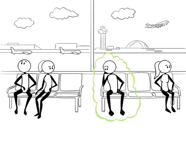 train, bus, airport