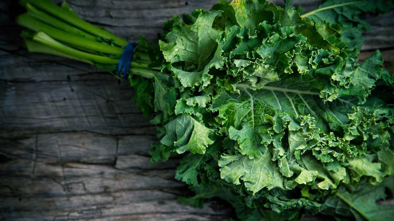 Kale stems healthy