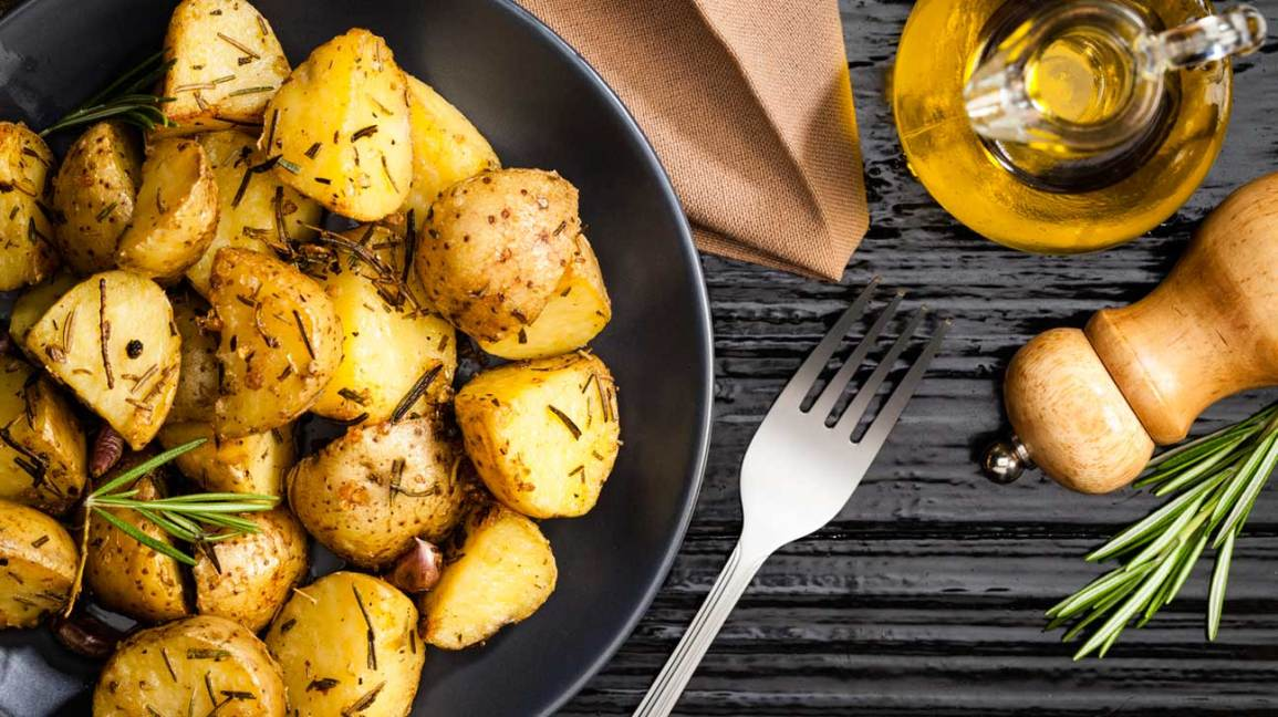 Cooked Potatoes With Herbs
