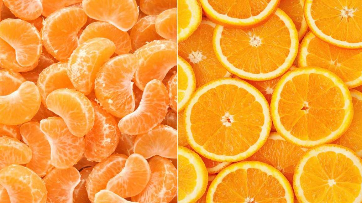tangerines vs oranges how are they different