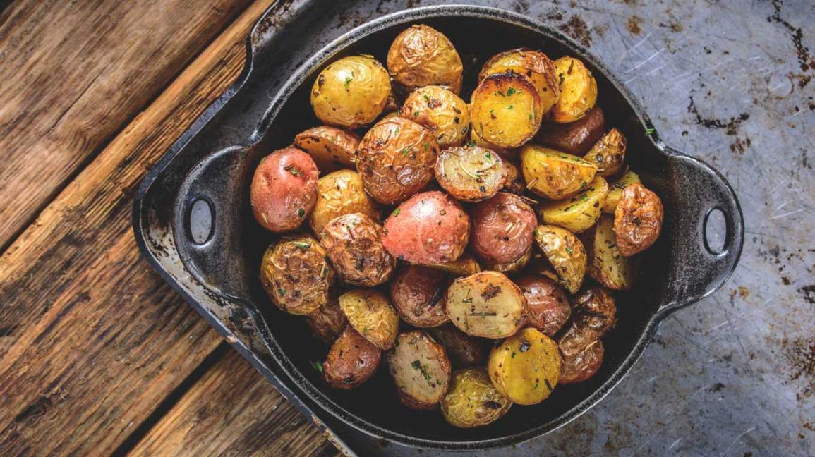 Roasted Potatoes in Oven Dish