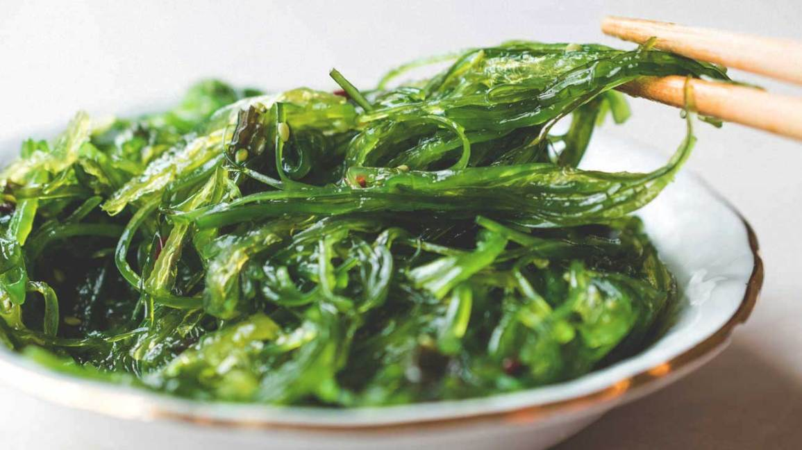 Wakame seaweed in a bowl