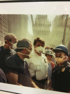 Bart Zagami (left) at Ground Zero in New York City shortly after the 9/11 terrorist attacks