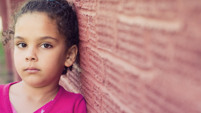 young girl with diagnosable mental illness