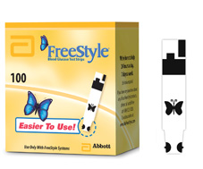 Abbott free style test strips