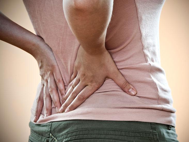 Simptome de dureri de spate inferioare la nivelul piciorului drept ?i al feselor