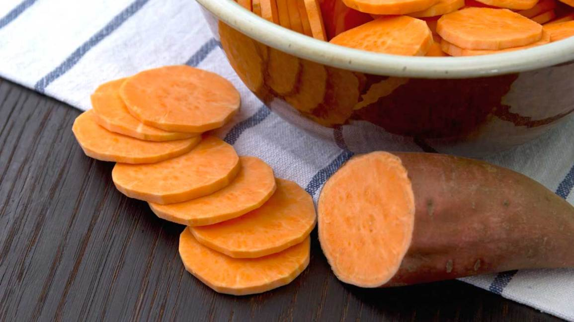 Sliced Orange Sweet Potato