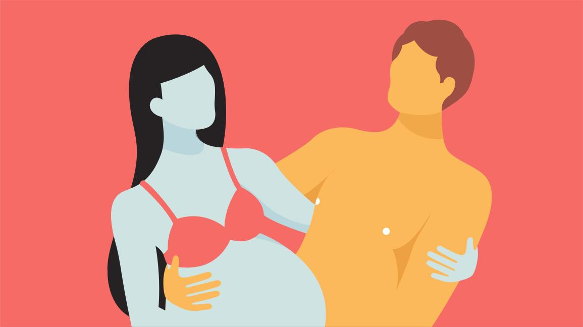 10 Comfortable Pregnancy Sex Positions for Every Trimester, Illustrated