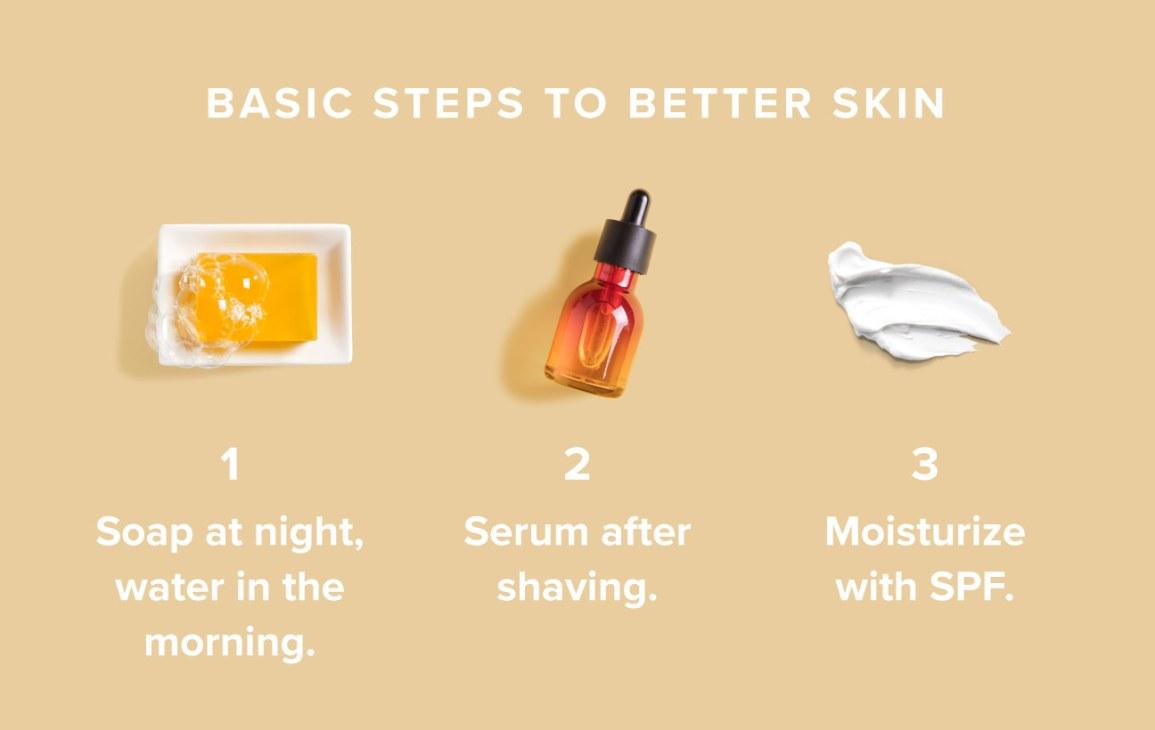 A simple skin care regimen